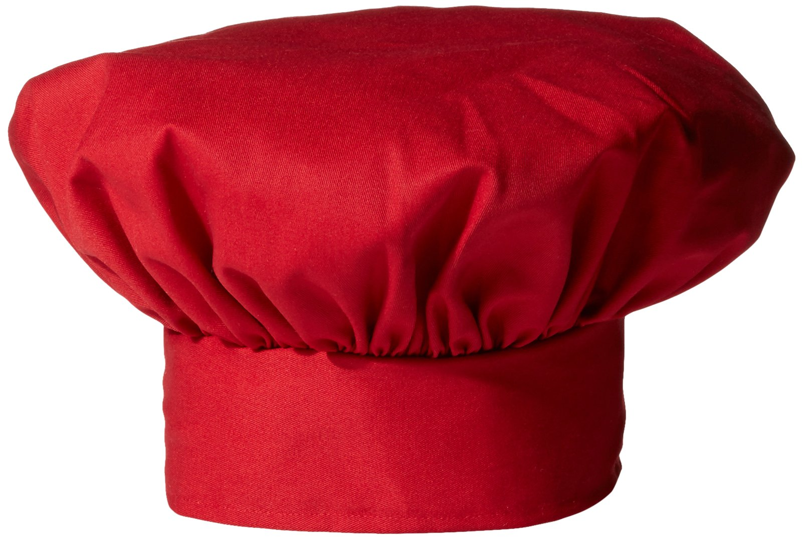 Uncommon Threads Unisex Twill Chef Hat, Red, One Size