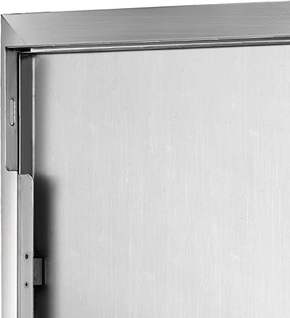 Husuper 570X415X580mm Edelstahl Links angeschlagene Einstiegst/ür vertikale T/ür Unterputzmontage f/ür die Au/ßenk/üche T/ür f/ür Badezimmer Smoker Putzt/ür f/ür BBQ