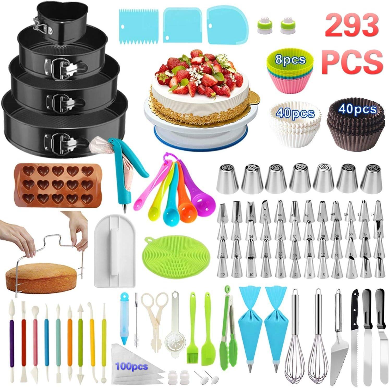 Cake Decorating Supplies,293 PCS Cake Decorating Kit