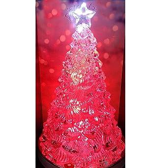 Tannenbaum Acryl.Acryl Tannenbaum 33 Cm Mit Farbwechsel Und Musik Led Weihnachtsbaum