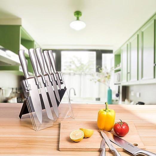 白菜!X-Chef 420级不锈钢厨房刀具6件组