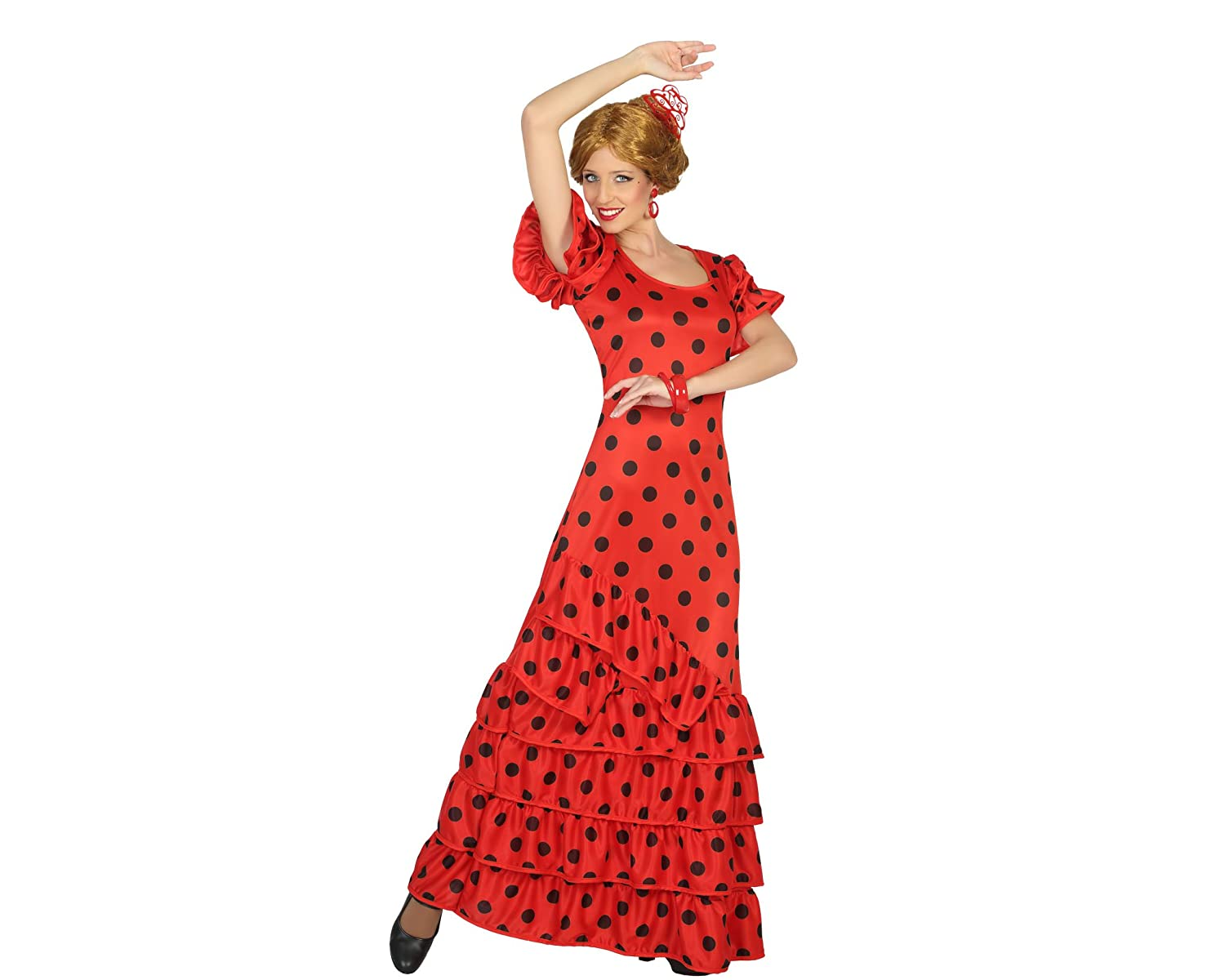 Atosa-16965 Disfraz Flamenca, Color Rojo, M-L (16965): Amazon.es ...