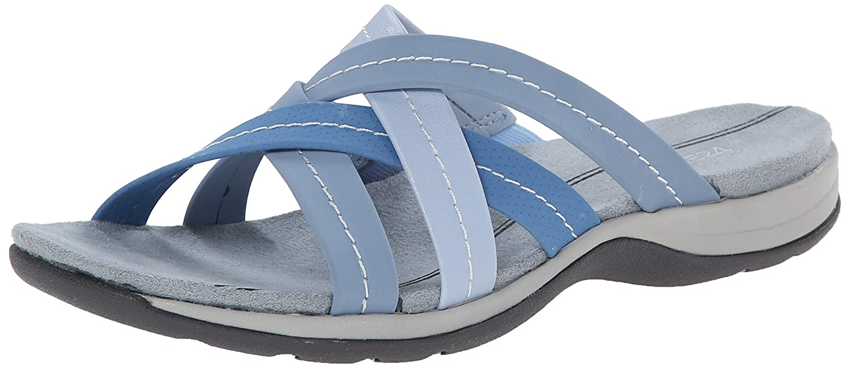 Amazon.com | Easy Spirit Women's Stardance Gladiator Sandal, Medium Blue/ Multi, 9 M US | Flats