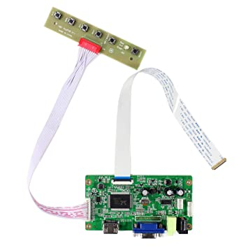 HDMI + VGA Tarjeta de control de LCD de entrada para B116XAN02 M133NWN1 M140NWR4 Panel LCD de 11.6
