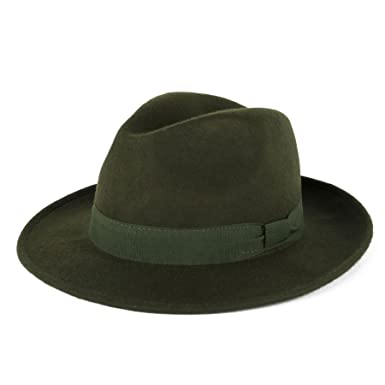 64cc518d73e1b Mens Ladies 100% Wool Handmade in Italy Waterproof Trilby Fedora Hat   Amazon.co.uk  Clothing