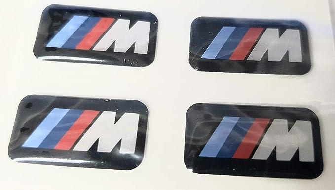 "4x Genuine BMW /""M/"" Badge Light Alloy Wheel Adhesive Sticker Emblem 36112228660"