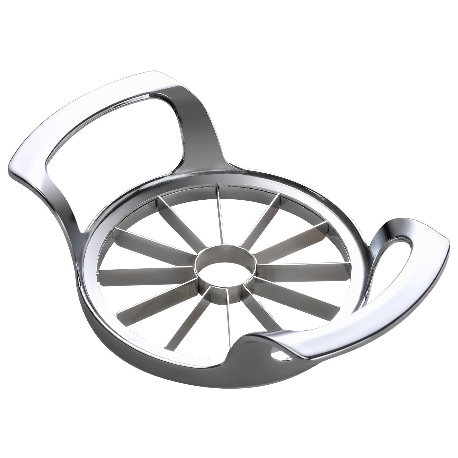 SAVORLIVING Apple Slicer Upgraded Version 12-Blade Extra Large Apple Corer, Stainless Steel Ultra-Sharp Apple Cutter, Pitter, Divider for Up to 4 Inches Apples (Update) by SAVORLIVING