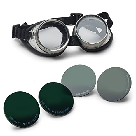 german made real shop safety goggles with all 5 lenses