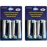 Premium Quality Compatible Replacement Toothbrush Heads For Braun/Oral b by VAK (8Pcs 2 pack)