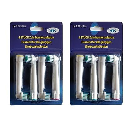 Cabezales de recambio para cepillo de dientes compatibles con Braun/Oral B