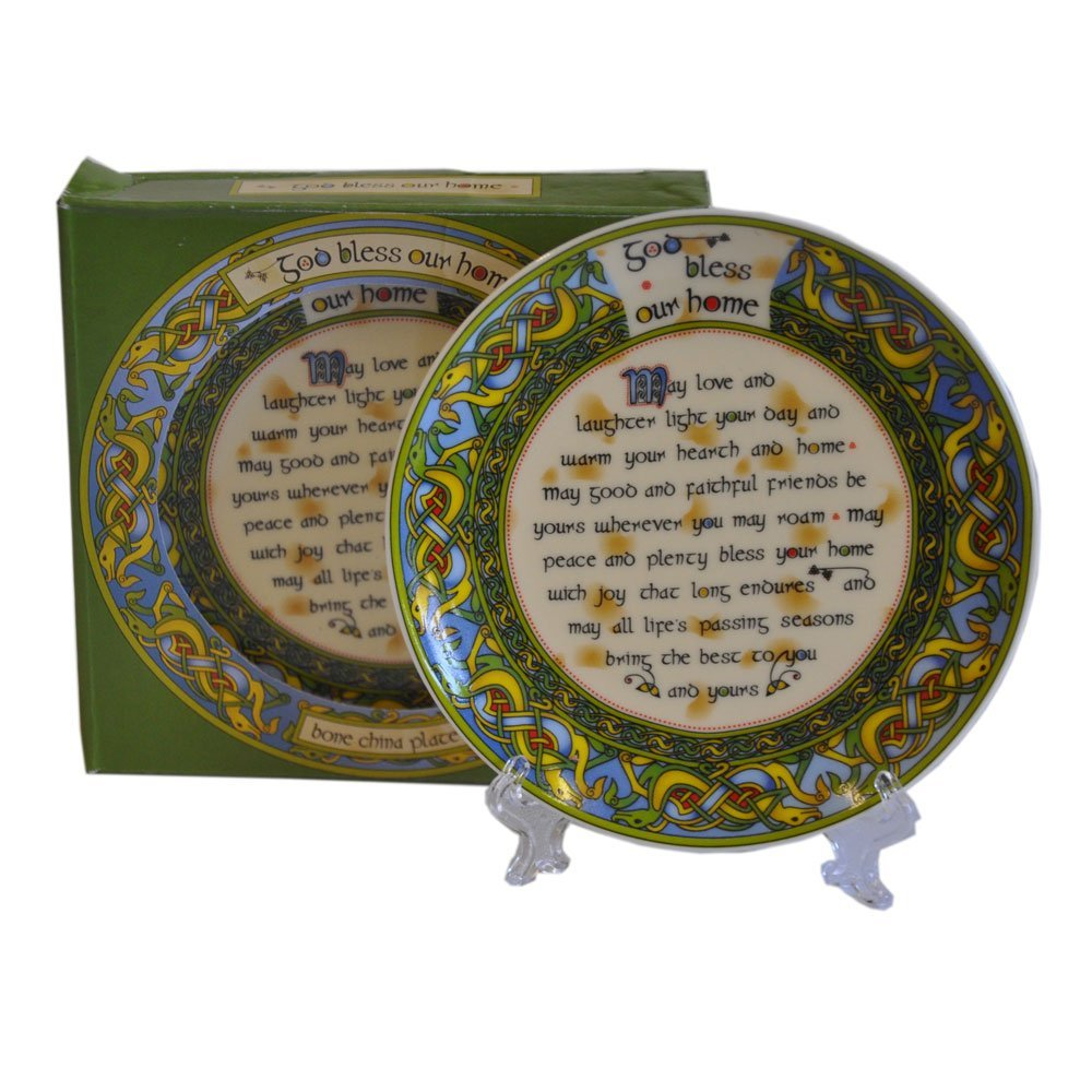 Royal Tara God Bless Our Home Irish 4'' Decorative Plate