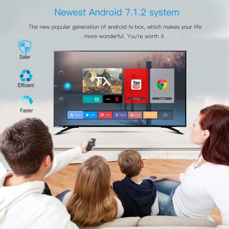 Globmall Android TV Box 7.1, 2018 modelo X3 Smart TV Box con 2 GB RAM 8 GB ROM GLM procesador Quad Core A53 64 bits apoyo 4 K 60 fps: Amazon.es: Electrónica