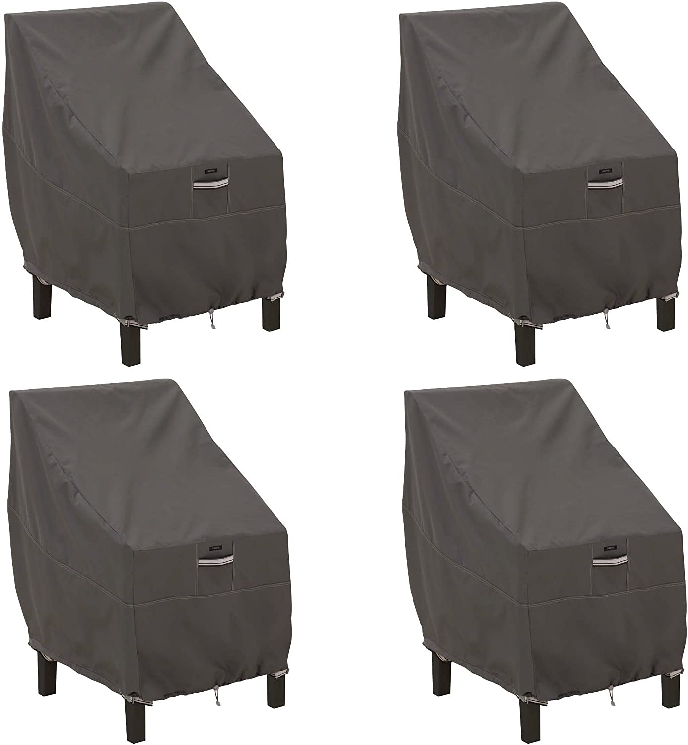 Classic Accessories Ravenna High Back Dining Patio Chair Cover (4-Pack)