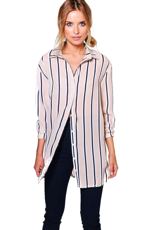 Stone Womens Sophie Striped Oversized Shirt