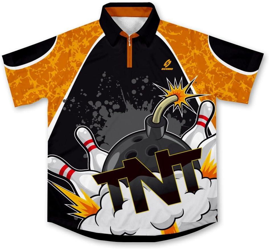 TNT Strikes Bowling Jersey Camisa de Bolos