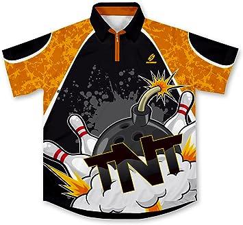 TNT Strikes Bowling Jersey Camisa de Bolos -: Amazon.es: Deportes y aire libre