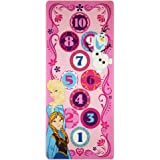 "Disney Frozen Hopscotch Toys Rug Anna, Olaf, Elsa Bedding Play Mat Game Rugs w/ 2 Snow Flakes Toy, 26""x58"""