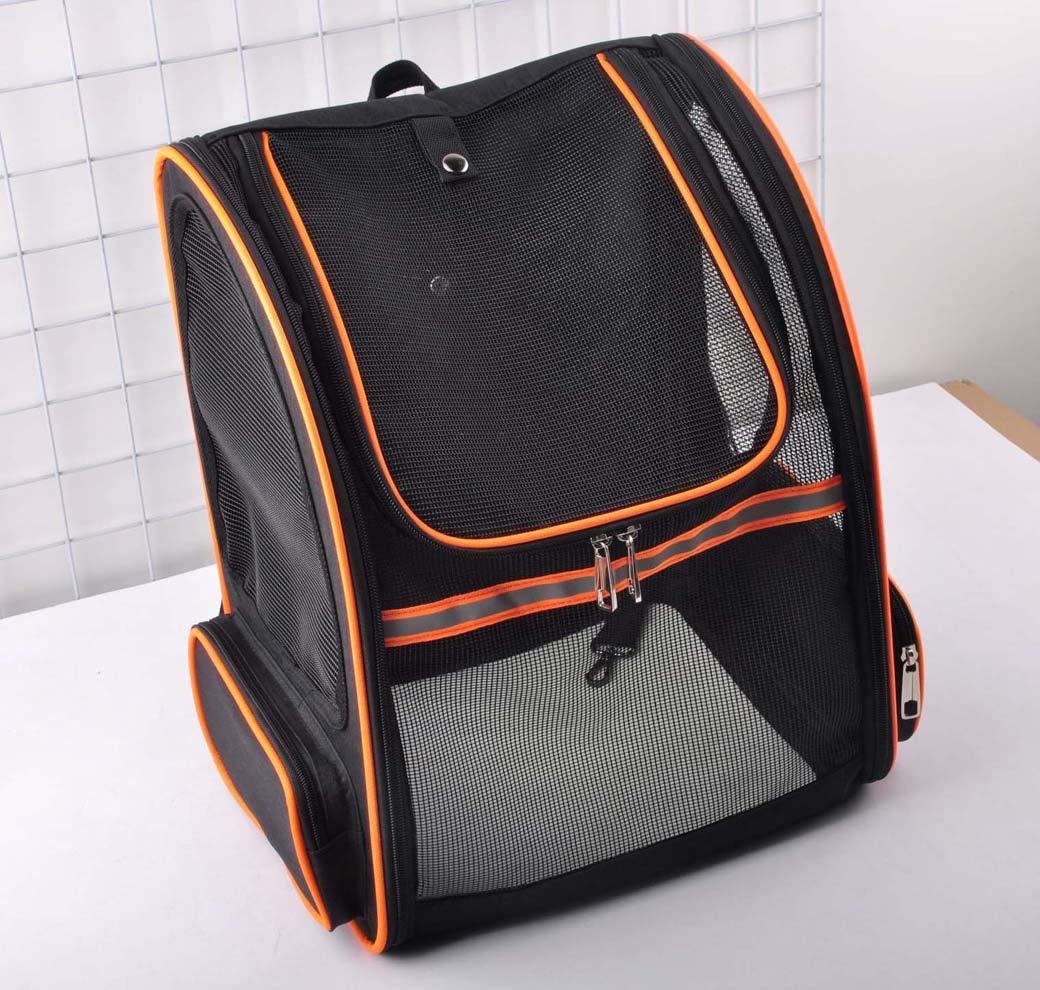 orange Full Net Pet Bag, Breathable Pet Sling Carrier, Portable Out Pet Travel Carrier (color   orange)