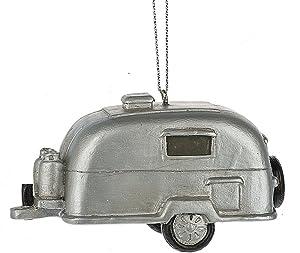 Midwest-CBK Silver Retro Camping Trailer RV Ornament