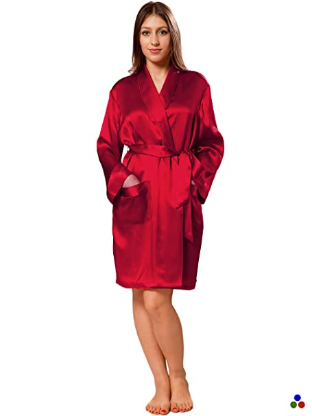 66d512484229 ElleSilk Women s Short Silk Robe