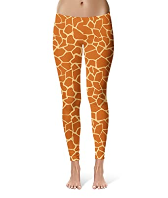 1414fee0bbc49 Queen of Cases Giraffe Print Leggings XS-3XL Lycra Gym Yoga Full Length -  Brown -: Amazon.co.uk: Clothing
