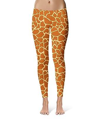 58c3f4cdf723 Queen of Cases Giraffe Print Sport Leggings - Full Length, Mid/High Waist  Brown