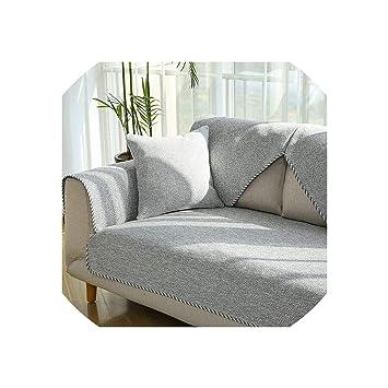 Amazon.com: Elegant Linen Cotton Sofa Cover Living Room ...