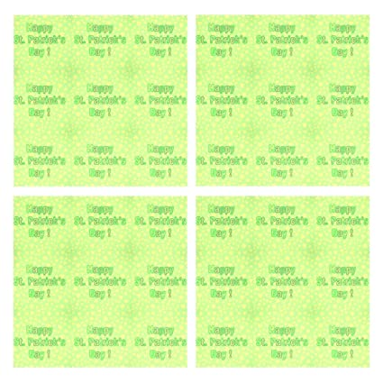 Amazon.com: Set of 4 Placemats Happy Green Saint Patricks ...