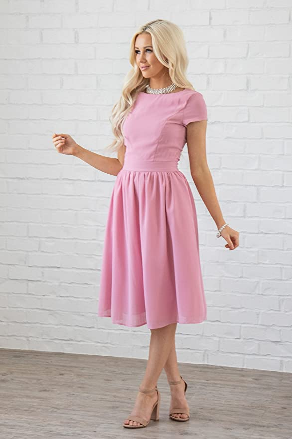 2ae8c738fd Lucy Modest Chiffon Dress