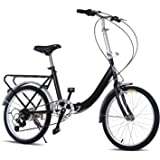 Kemanner 20'' Folding Bike 7 Speed Foldable Storage Bicycle for Urban Commuter,City Sports College School