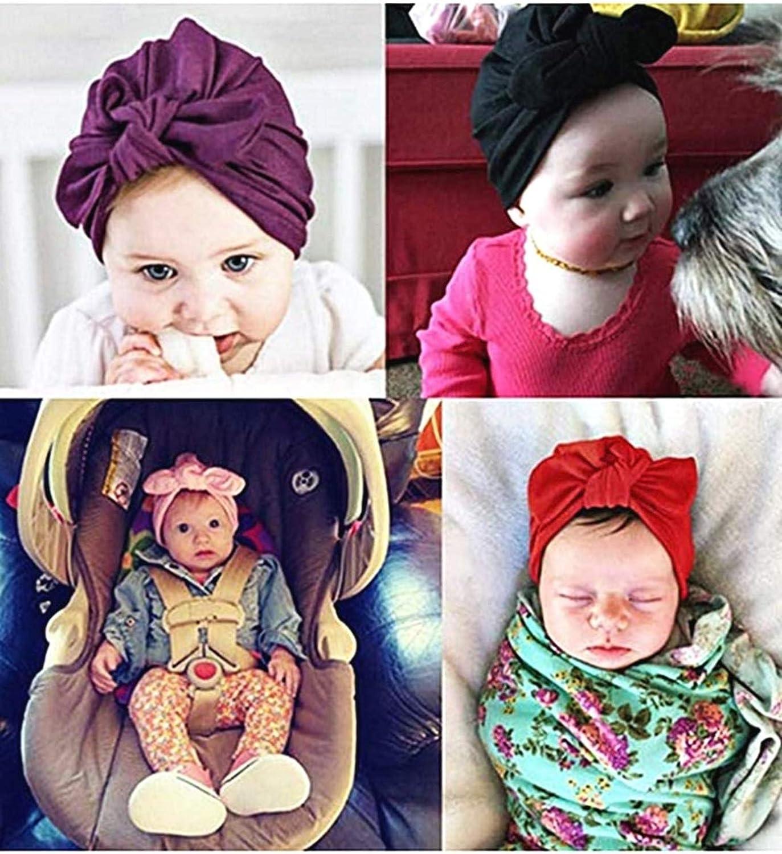 Ottima qualit/à Fiocco tg Unica Nodo Cappellino per Bimbi Turbante KIRALOVE Cappello neonata Elasticizzato Colore Bianco Idea Regalo Originale