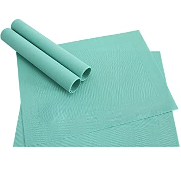 Table Mat Placemat BORDA Table Underlay 4 Pieces Set Mint Green Jade