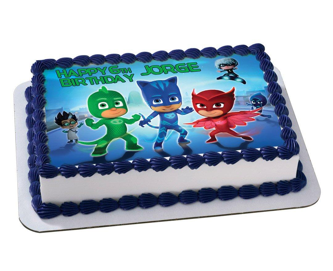 PJ Masks Disney Junior Quarter Sheet Edible Photo Birthday Cake