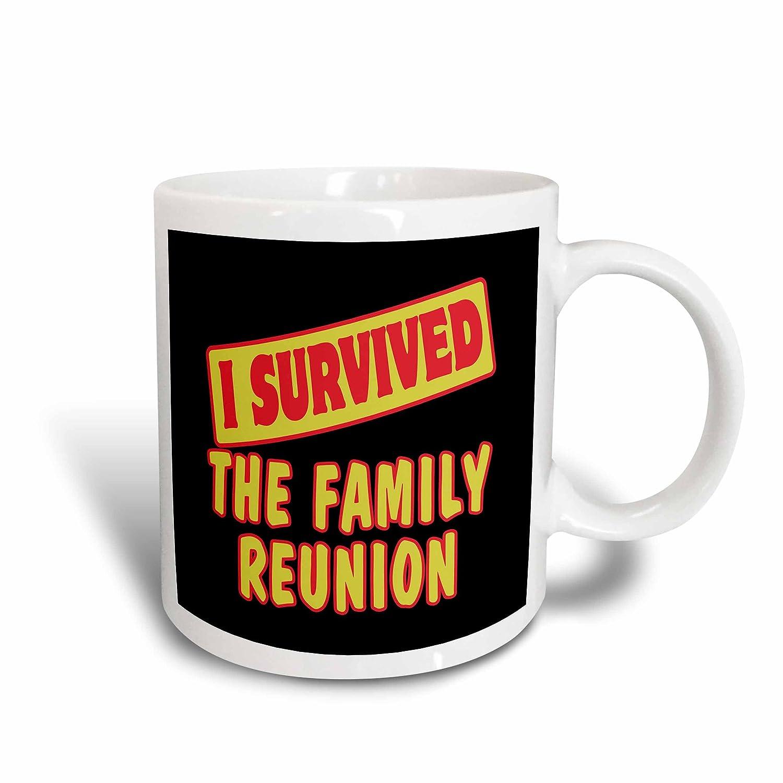3dRose 118334/_1II Survived The Family Reunion Survial Pride And Humor Design Ceramic Mug 11 oz White