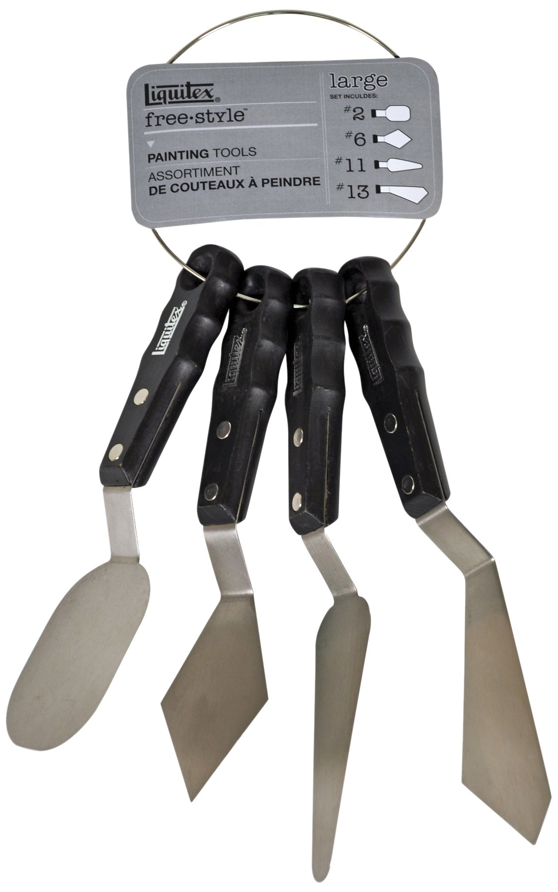 Liquitex Professional Freestyle Large Scale Knives 4-Piece Ring Set