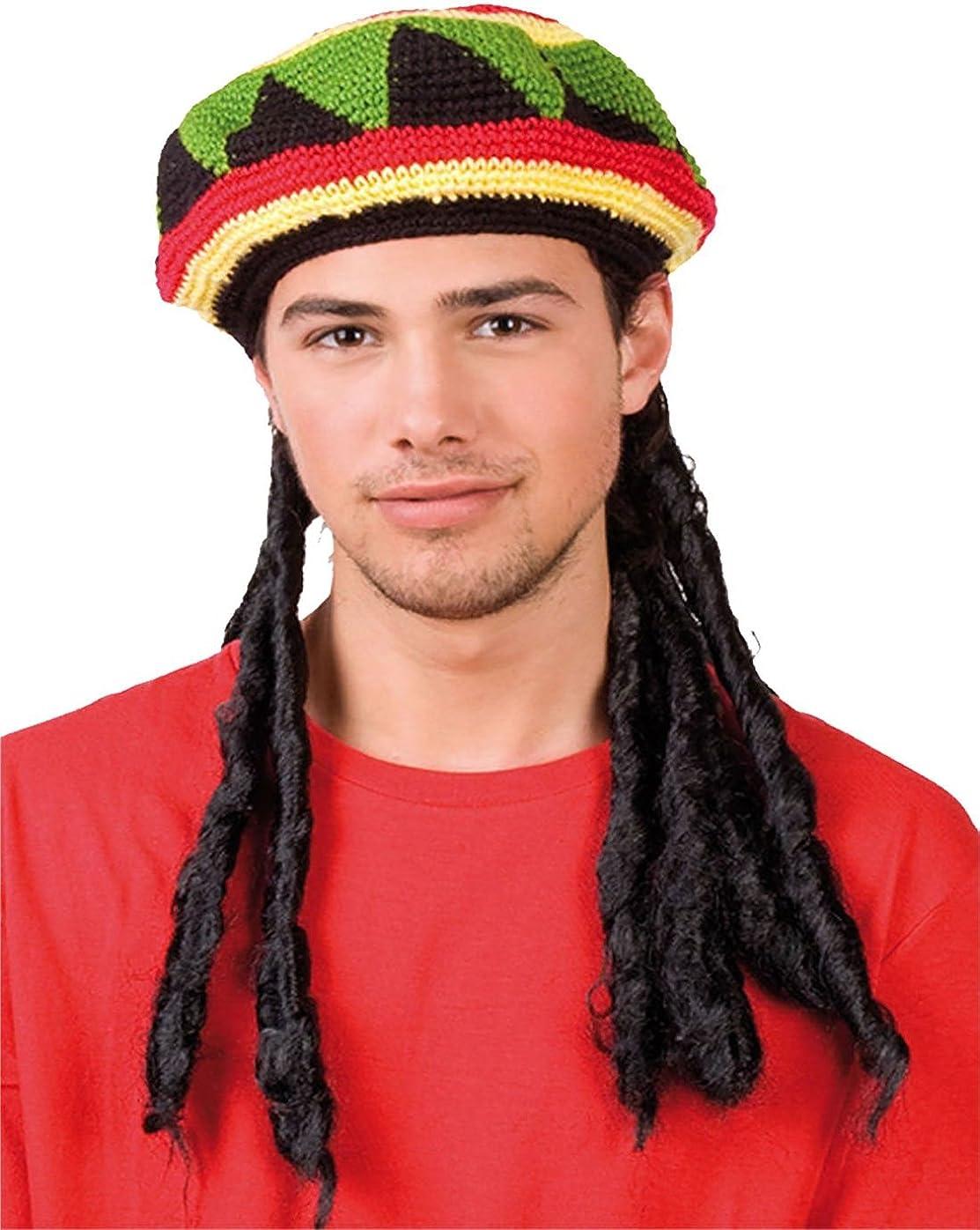Islander Fashions Unisex sombrero jamaicano con peluca rastas Bob ...