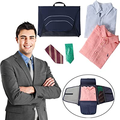 Shirt Storage Bag,Hongxin Portable Fold Travel Packing Cubes Closet Organizer Oxford Clothes Storage Bag Shirt Preventing Wrinkle Ldeal Storage Organizers Handbag Portable Pouch For Outdoor Travel