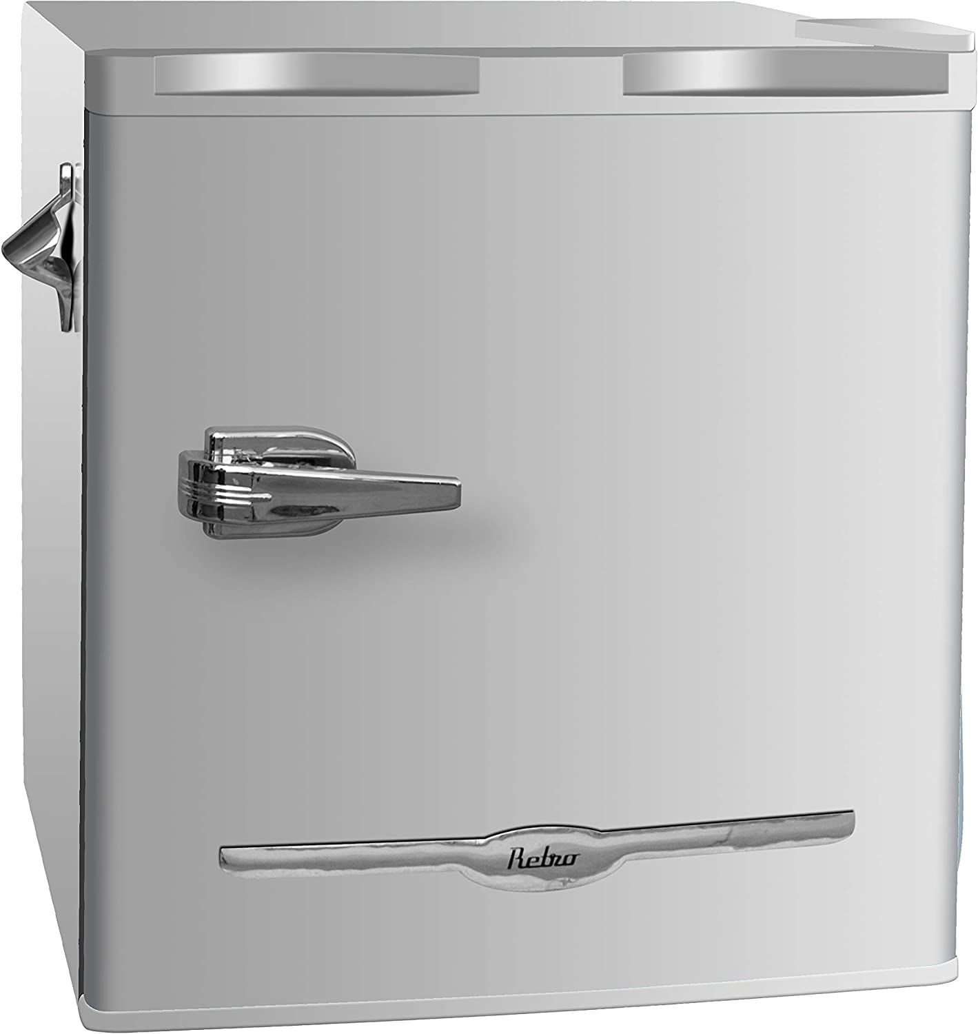 Frigidaire EFR176-MOONBM 1.6 cu ft Moonbeam Retro Fridge with Side Bottle Opener. for The Office, Dorm Room or Cabin