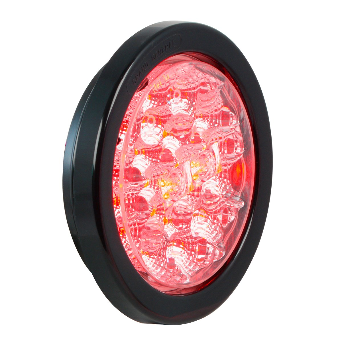 Grommet and Pigtail for Trucks Trailers GG Grand General Grand General 77084BP Spyder 4 Round Red LED Stop//Turn//Tail Includes Light RVs Utility Vehicles