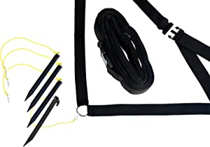 Park & Sun Sports Outdoor Volleyball Boundary Webbing with Ground Stakes