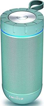 COMISO Waterproof Bluetooth Speakers Outdoor Wireless Portable Speaker with 24 Hours