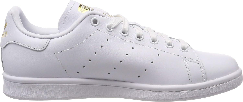 adidas Stan Smith W, Scarpe da Ginnastica Donna Bianco Ftwr White Ftwr White Gold Met Ftwr White Ftwr White Gold Met