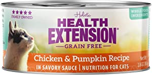 Health Extension Grain Free Chicken & Pumpkin Recipe Canned Wet Cat Food - (24) 2.8 Oz Cans