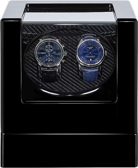 YLJYJ Caja giratoria Relojes, Watch Winder automatico Pintura Mudo Motor Doble Relojes rotación Caja Almacenamiento Caja presentación para Relojes mecánicos automáticos: Amazon.es: Deportes y aire libre