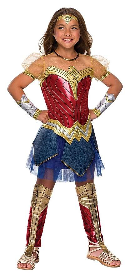 Amazon Com Rubie S Justice League Child S Wonder Woman Premium