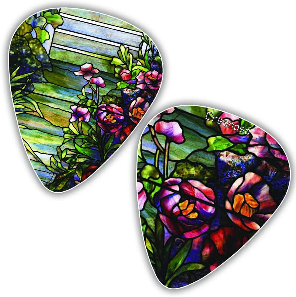 Tiffany Stained Glass Art célèbre Guitar Picks (12-Packs) - Cool ...