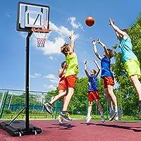 Basketball Hoop Stand Kid Rim Ring System Large Backboard Net Height Adjustable