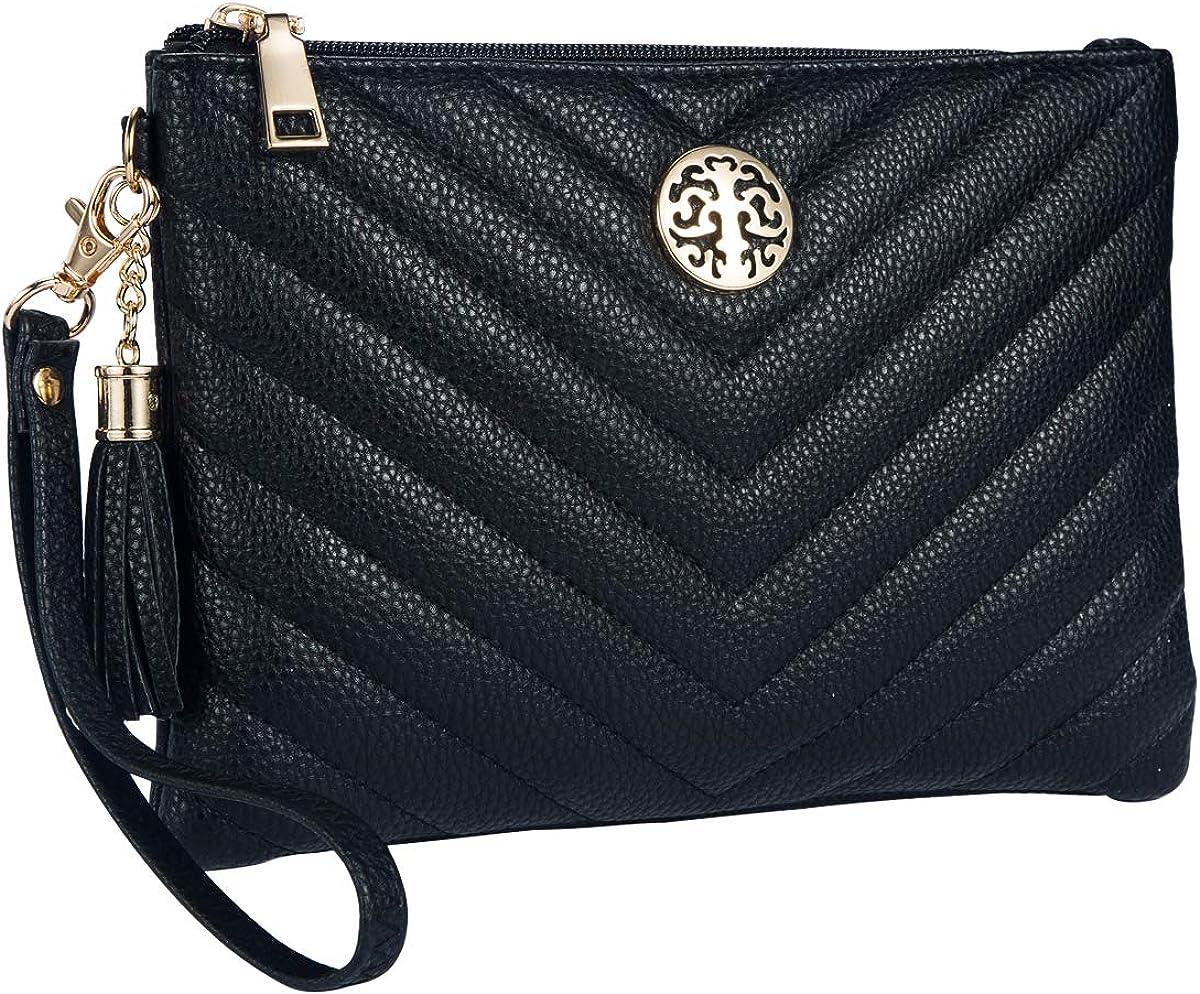 Heaye Wristlet Wallet Purse for Women with Tassel