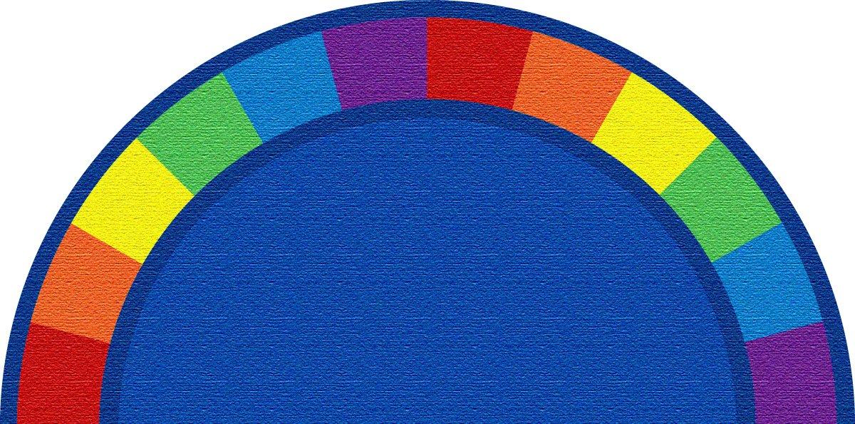 Kid Carpet FE82143A Colors Semicircle Nylon Area Rug, 12' x 6' , Multicolored
