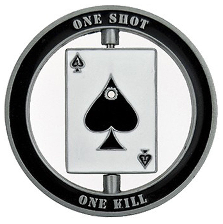 Sniper Specialist Marksman - One Shot Spinner Challenge Coin - Gift for Men